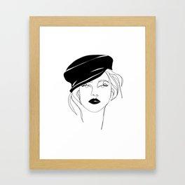 Girl In A Cap Framed Art Print