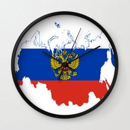 Russia Flag Wall Clock