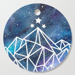 Watercolor galaxy Night Court - ACOTAR inspired Cutting Board