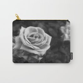 Pink Roses in Anzures 1 B&W Carry-All Pouch