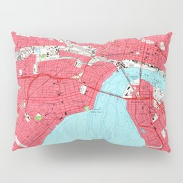 Vintage Map of Jacksonville Florida (1964) 2 Pillow Sham