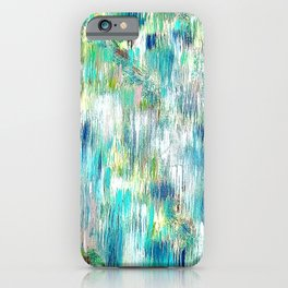 Green Abstract Painting. Beautiful Greens and Blues. Intriguing and Unique. iPhone Case