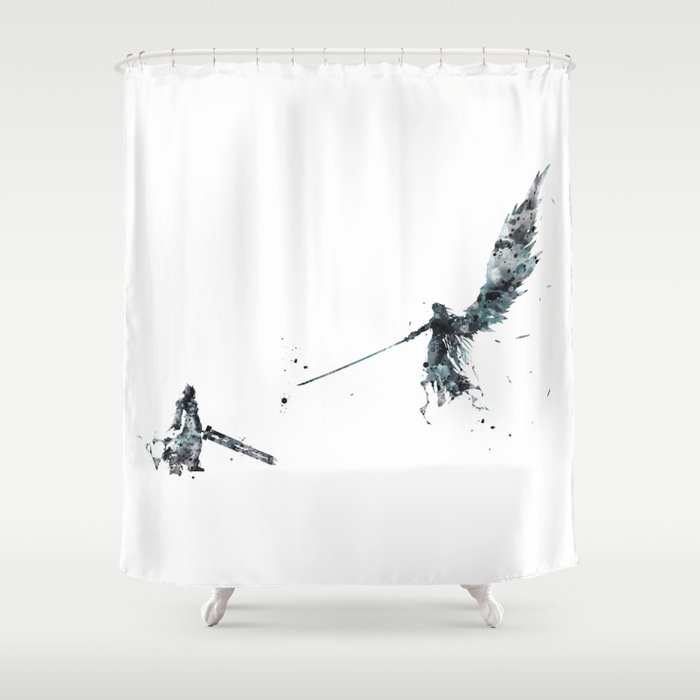 Final Fantasy Watercolor Shower Curtain By Artsaren