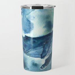 blue moon whale Travel Mug