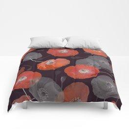 Night in the Poppy Field Comforters