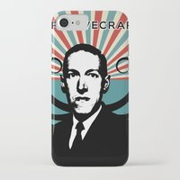 lovecraft iPhone & iPod Cases featuring H.P. Lovecraft Retro by Volkan Kutlubay