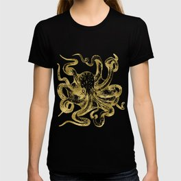Gold Octopus T-shirt