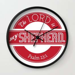 Psalm 23:1 (Retro) Wall Clock