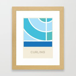 Curling (Sports Surfaces Series, No. 8) Framed Art Print