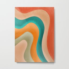 Abstract Pastel Pattern Metal Print