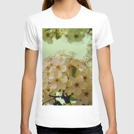 Spring Flowers on mint green background A377 T-shirt