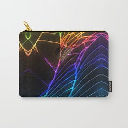 Rainbow Broken Damaged Cracked out Black handphone iPhone Carry-All Pouch