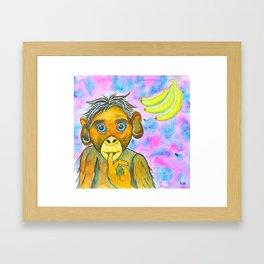 Monkey & Bananas Framed Art Print