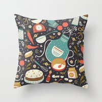 coasters Throw Pillows featuring Carrot Cake by Anna Deegan
