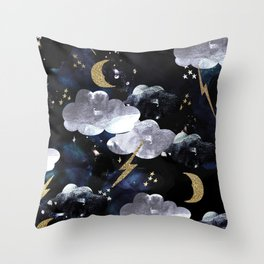 Cosmic lightning Throw Pillow