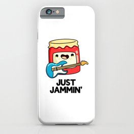Just Jammin Cute Music Jam Pun iPhone Case