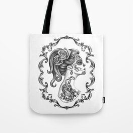 Sugar Skull Girl Cameo Tote Bag
