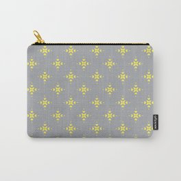 Ornamental Pattern with Grey and Lemon Yellow Colourway Carry-All Pouch