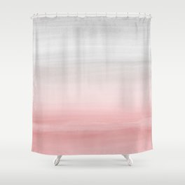 Touching Blush Gray Watercolor Abstract #1 #painting #decor #art #society6 Shower Curtain
