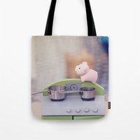 cooking Tote Bags featuring Cooking Classes by Irène Sneddon