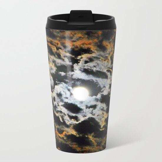 Tiger Full Moon Metal Travel Mug