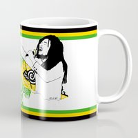 jamaica Mugs featuring Jamaica -  Freedom Time by Art & Be