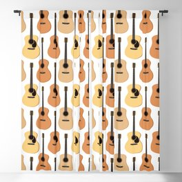 Acoustic Guitars Pattern Blackout Curtain