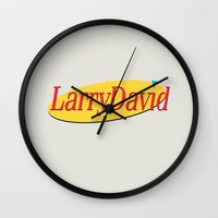 seinfeld Wall Clocks featuring Larry David - Seinfeld by Uhm.