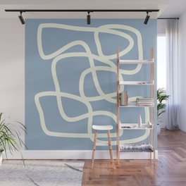 Maze in Gray Blue Wall Mural
