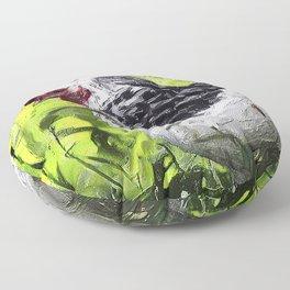 Spring Chicken Floor Pillow