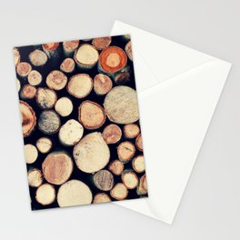 Wood Pile Stationery Cards