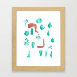 Leaf shape limb chart Framed Art Print