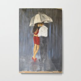 OUR WALK IN THE RAIN Metal Print