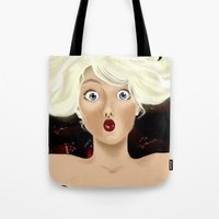 naked Tote Bags featuring naked by ART-is-TRY