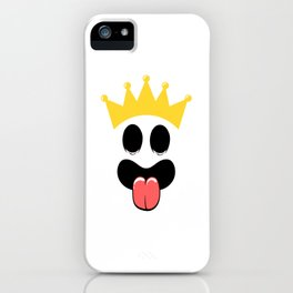 Crown King Queen Face Halloween Shirt For October 31st T-shirt Design Spooky Creepy Halloween Scary iPhone Case