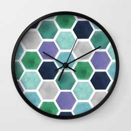 Purple Diamond Wall Clock