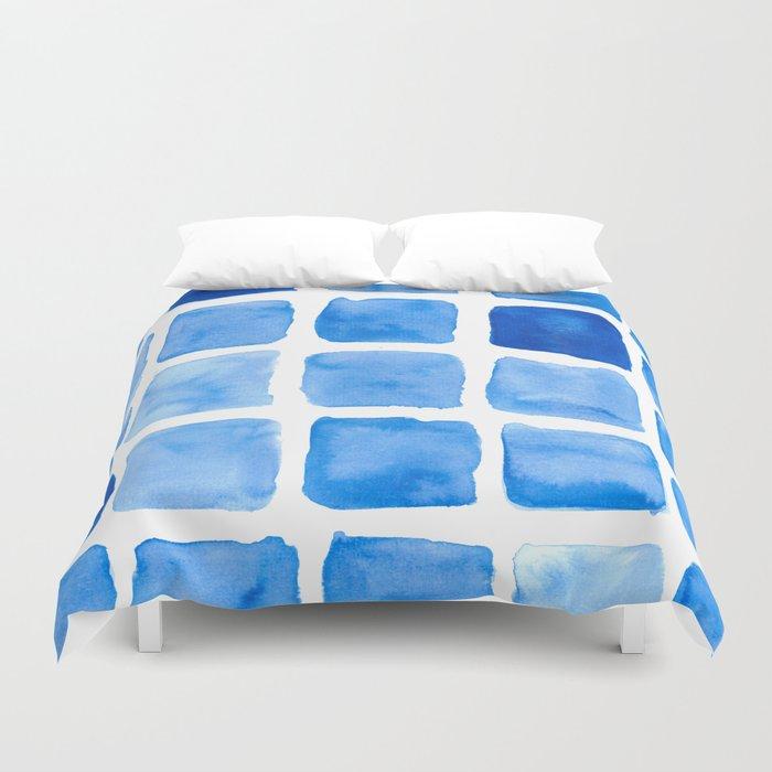 Blue Cube I Duvet Cover