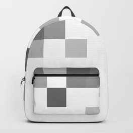 Gray Scale In Pixels Backpack