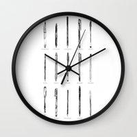 write Wall Clocks featuring Write Way by abu qays