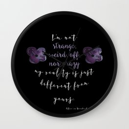Reality is Different, Alice in Wonderland Wall Clock