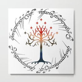 Tree The Ring Space Metal Print