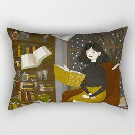 floating books Rectangular Pillow
