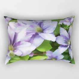 Delicate Climbing Clematis Rectangular Pillow