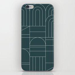Deco Geometric 04 Teal iPhone Skin