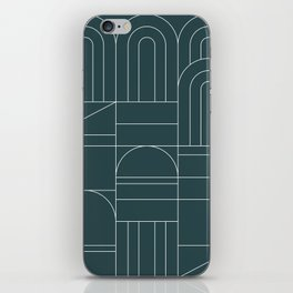 Deco Geometric 04 Teal iPhone Skin