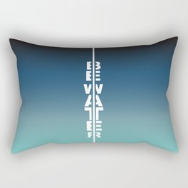 Gradient Be water Rectangular Pillow