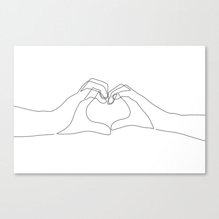 Hand Heart Leinwanddruck