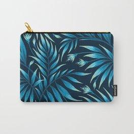 Waikiki Palm - Petrol Blue Carry-All Pouch