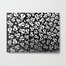 skulls and flowers 002 Metal Print