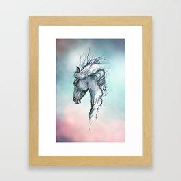 Aqua horse Framed Art Print